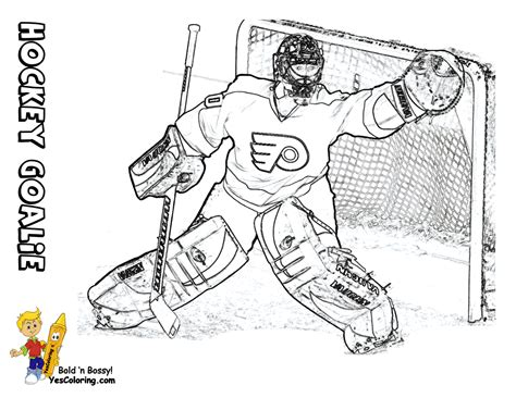 Hat Trick Hockey Coloring Sheets