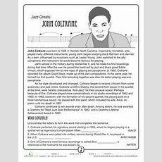 History Of Jazz  5th Grade Music Education  Pinterest  Free Worksheets, Worksheets And Musicians