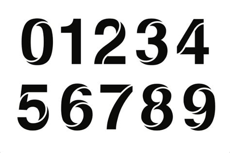 9 number stencils free sle exle format download free premium templates