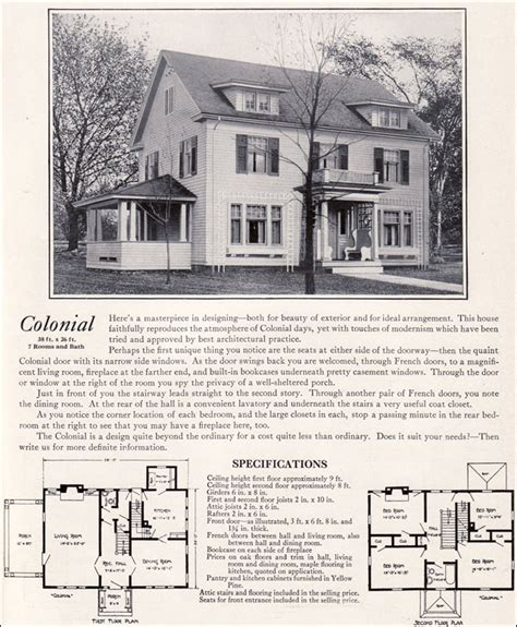 colonial revival house plan house design plans