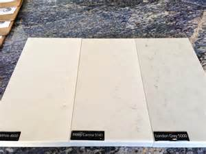 White Caesarstone Frosty Carrina Countertops