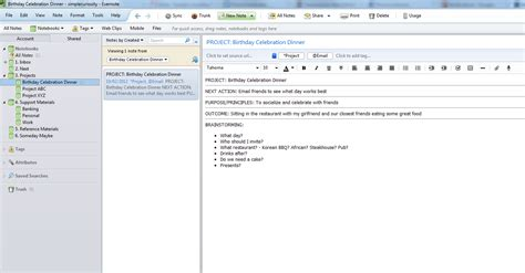 to do list evernote template getting things done with evernote projects part 3