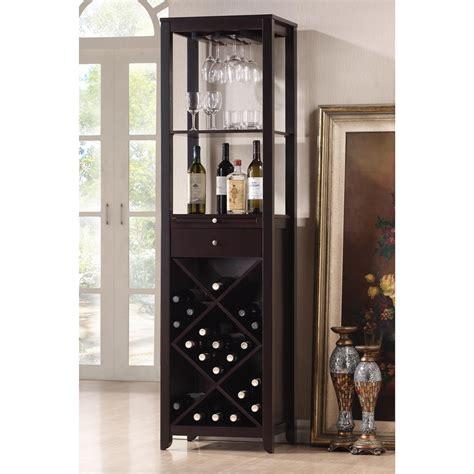wine glass cabinet shop baxton studio brown 20 bottle wine cabinet at