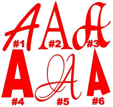 4 letter monogram decal monogram sticker personalized 4 inch vinyl monogram letter or number iron on vinyl decal 44525