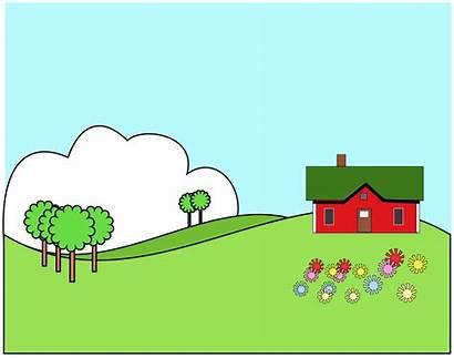 Landscape Cartoon Clipart Clip Landscaping Cliparts Tundra