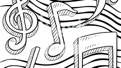 Coloring Music Notes Printable Musical Notes Coloring