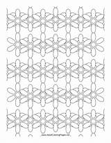 Chain Daisy Coloring Adult Adults Printable sketch template