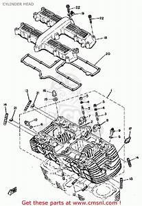 Yamaha Xs1100 1980  A  Usa Cylinder Head