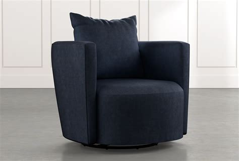 twirl navy blue swivel accent chair living spaces