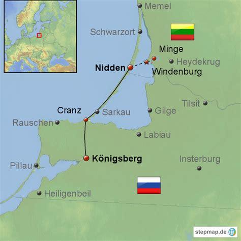 stepmap nidden koenigsberg landkarte fuer europa