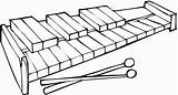 Xylophone Coloring Pages Clipart Printable Clip Template Cliparts Library Instruments Categories Coloringhome Sketch sketch template