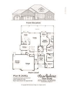 traditional rambler home plan     plan house design house plans