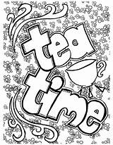 Coloring Tea Pages Adults Adult Coffee Bookmark Belgium Colouring Printable Getcolorings Getdrawings Fun Teacup Advanced Grown Theme Ups Cool статьи sketch template