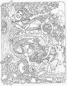 cannabis fantasy cool coloring book pages - adult fairy coloring pages