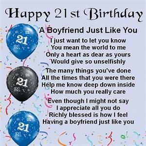 Personalised Coaster - Boyfriend Poem - 21st Birthday ...