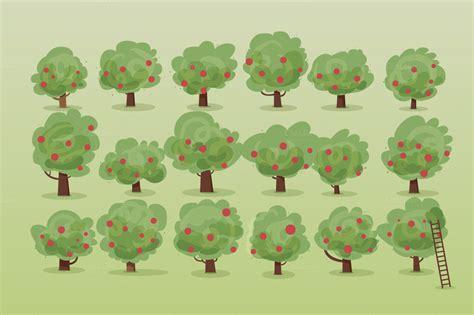 apple orchard illustration apple orchard illustration set illustrations on creative