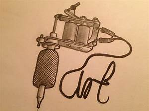 Simple Tattoo Gun Sketch | www.imgkid.com - The Image Kid ...
