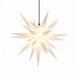 Herrnhuter Stern Beleuchtung : herrnhuter weihnachtsstern a7 wei aus kunststoff mit ~ Michelbontemps.com Haus und Dekorationen