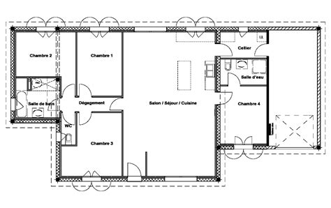 Plan De Maison 120m2 Plain Pied 3 Chambres Newsindoco