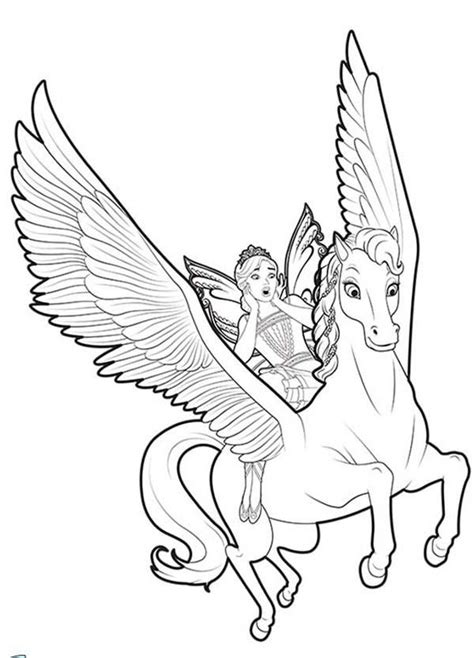 unicorn coloring pages flying  fairy unicorn