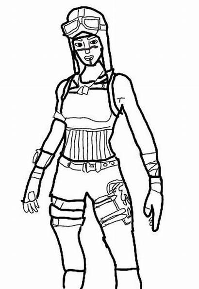 Fortnite Raider Renegade Coloring Pages Colouring Printable