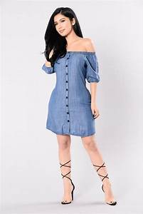 Stunning Denim off the Shoulder Short Outfits Styling For Young Girls - Womenitems.Com