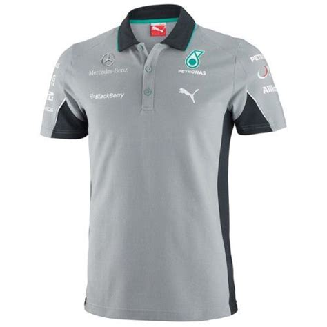 Mercedes amg petronas white team tee shirt T-Shirts 2019 Mercedes-AMG Petronas F1 Men's Team Tee Black Official T-Shirt Kleidung ...