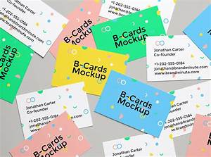 Realistic, Business, Cards, Mockup, 4
