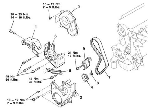 2015 Mitsubishi Mirage Engine Diagram by How To Change A Timing Belt On A Mitsubishi Mirage