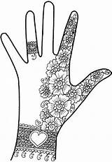 Henna Hand Mehndi Designs Simple Pakistani Hands Coloring Zentangle Easy Pages Zentangles Arabic Doodles Patterns Mehendi Printable Colouring Mehandi Tattoo sketch template
