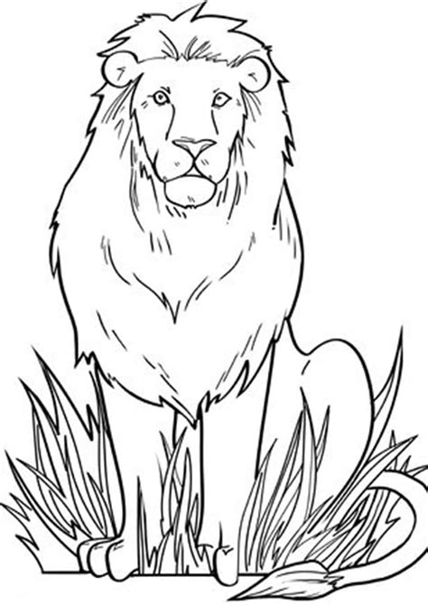 easy  print lion coloring pages tulamama