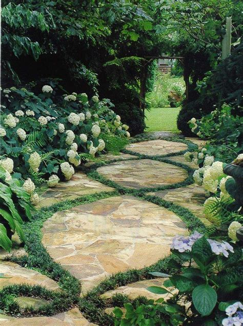 landscape pathways beautiful garden paths made of natural stone quiet corner