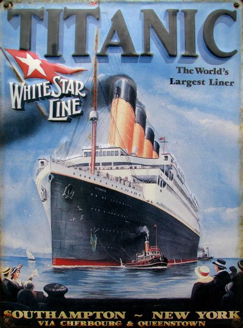 Titanic Boat Poster by Titanic Ocean Ship Modern Art Print Oil Painting Large