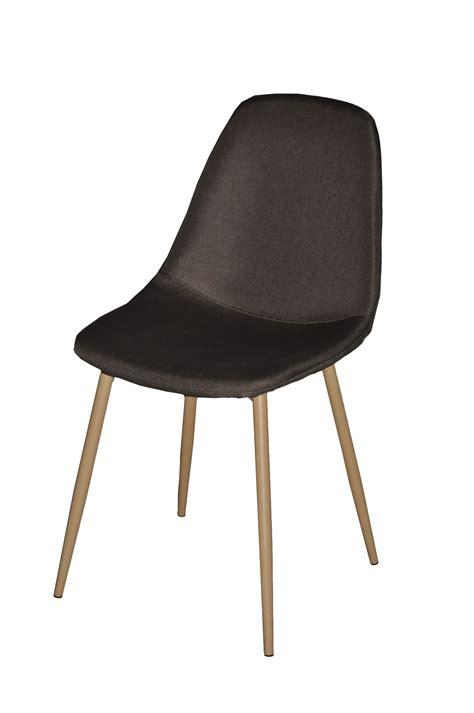 siege suedois chaise design métal anthracite style scandinave demeure