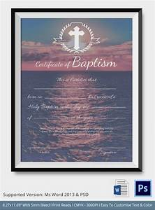 sample baptism certificate 20 documents in pdf word psd With water baptism certificate template