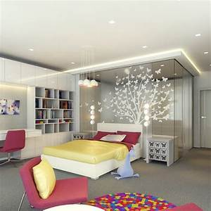 colorful teen bedroom design ideas interior design With interior design for teenager rooms