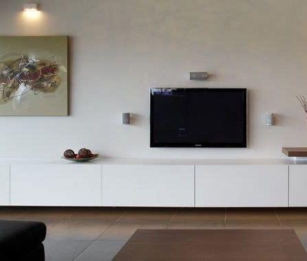 zwevend tv meubel op maat mat wit vloer muren en inrichting   meubels tv meubels en witte tv meubels