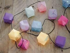 Lampions Selber Basteln : diy anleitung lichterkette mit origami lampions basteln via origami diy ~ Watch28wear.com Haus und Dekorationen