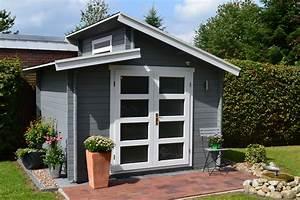Gartenhaus Grau Mit Anbau : pultdach gartenhaus in grau und wei mit einer mediterran ~ Articles-book.com Haus und Dekorationen