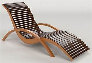 Wooden Lounge Chair for Beautiful Outdoor Swimming Pool