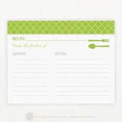 4X6 Blank Recipe Card Template