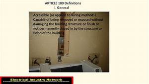 Accessible Wiring Methods - Electrical Short