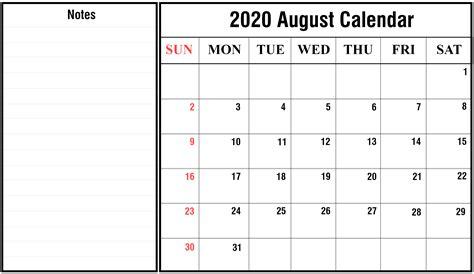 august calendar printable template holidays excel