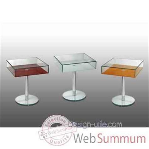 table bout de canapé en verre design bout de canapé carré marais en pmma dans table basse