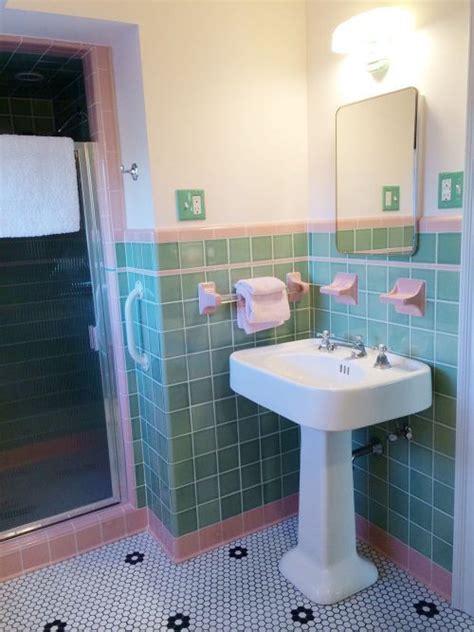 vintage tile bathrooms images  pinterest