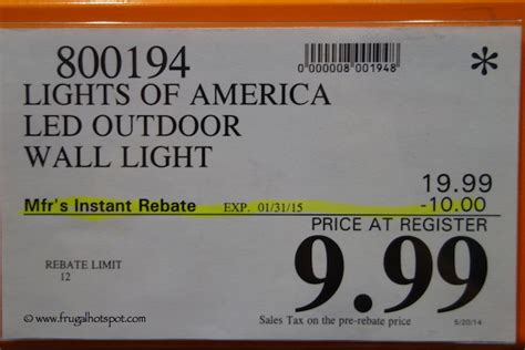 costco sale lights of america led outdoor wall light 9