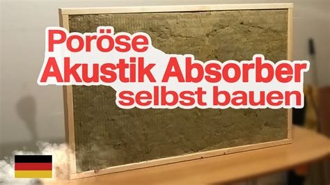 akustik raum selber bauen por 246 se akustik absorber selber bauen german