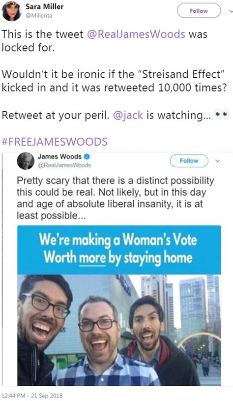 James Woods accuses Twitter of blocking free speech after