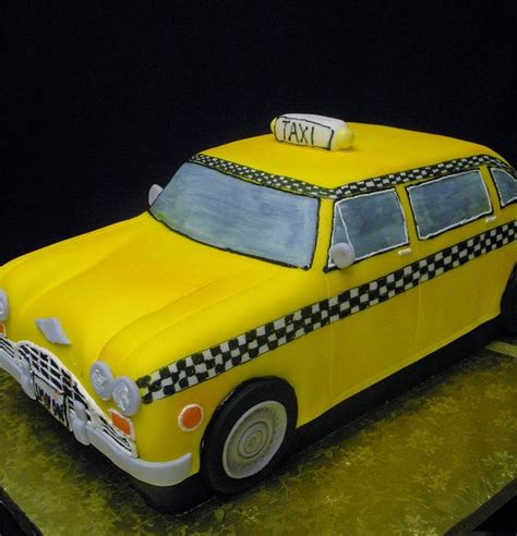 vintage yellow taxi cakejpg