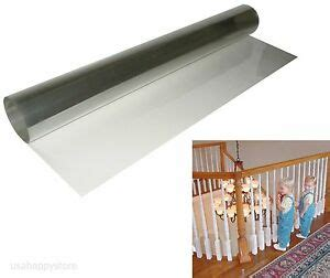 Banister Safety Guard by Kid Baby Banister Gate Roll Clear Plastic Guard Stairway